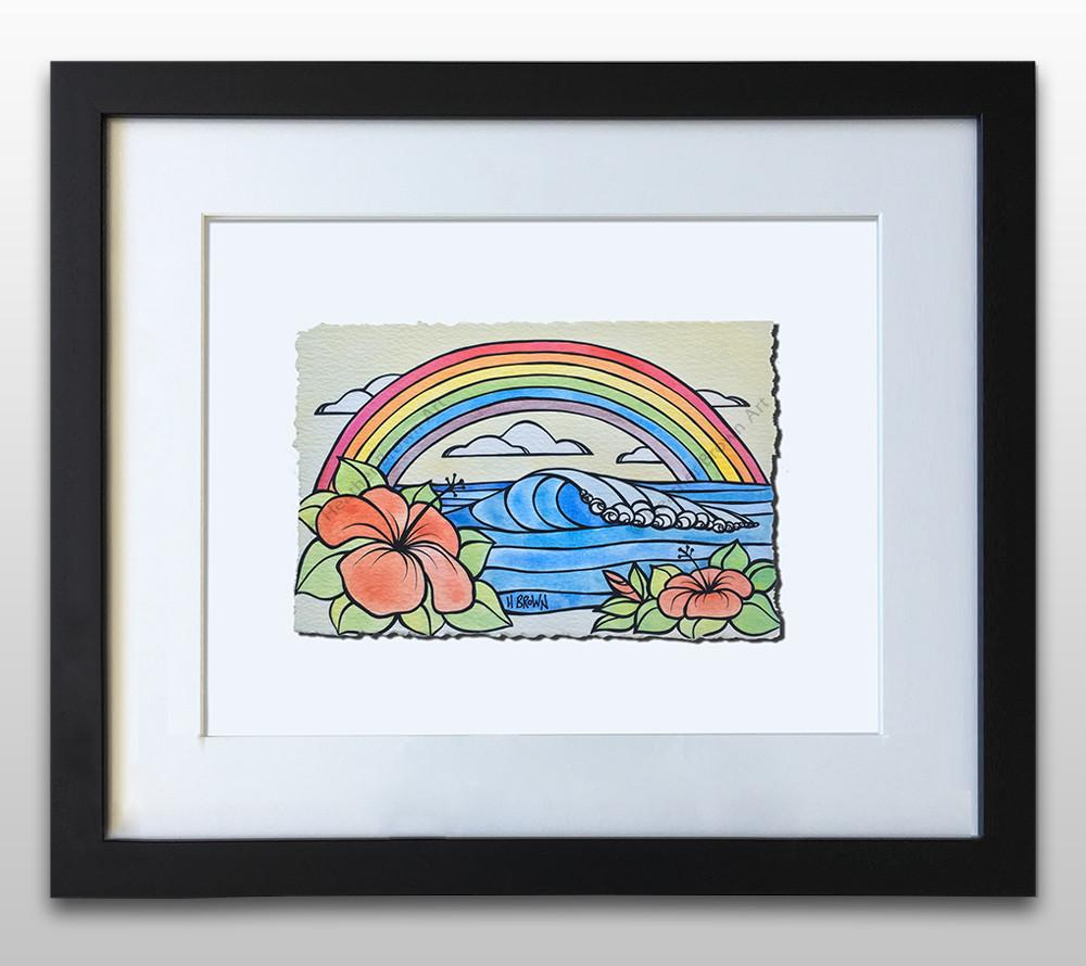 Rainbow Dreams - Framed Deckled Paper Print by Heather Brown
