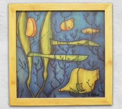 Under the Sea - framed, wood panel print by Hawaii artist Heather Brown