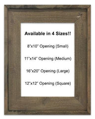 Rustic Brown Barnwood Reclaimed Wood Frame (Mat Prints) Available in four sizes by Heather Brown Art