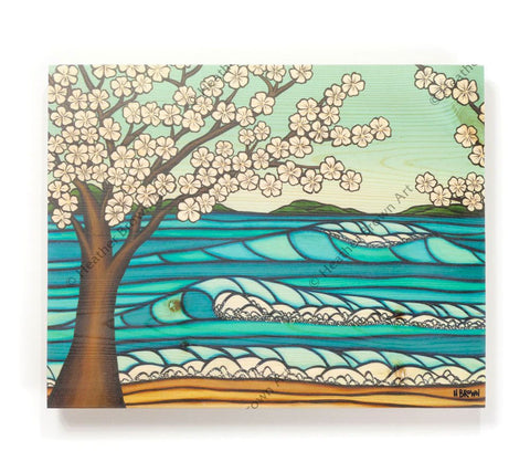 Sakura - Open Edition Wood Panel Print by Heather Brown