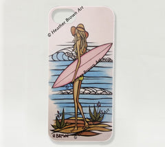 Sandy iPhone Case by Hawaii surf artist Heather Brown