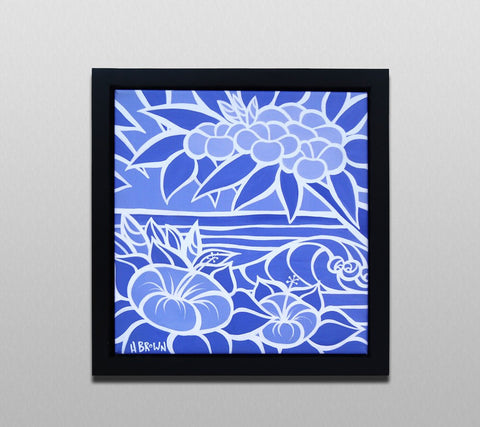 Black Square Canvas Frame (Shades of Hawaii) Hand Made by Heather Brown Art
