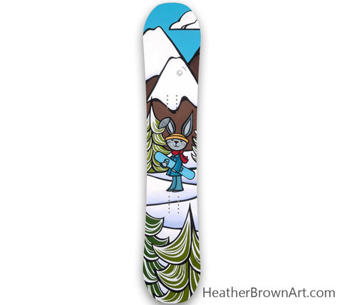 """Snow Bunny"" Limited Edition Snowboard was made in collaboration with Heather Brown Art x Elan Snowboards"