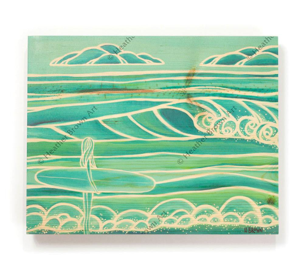 Spring - Open Edition Wood Panel Print by Heather Brown