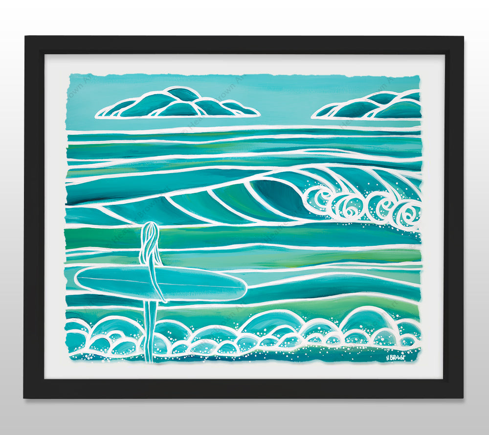 Spring - Black Framed Deckled Paper Print by Heather Brown