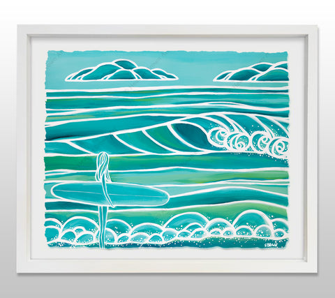 Spring - White Framed Deckled Paper Print by Heather Brown