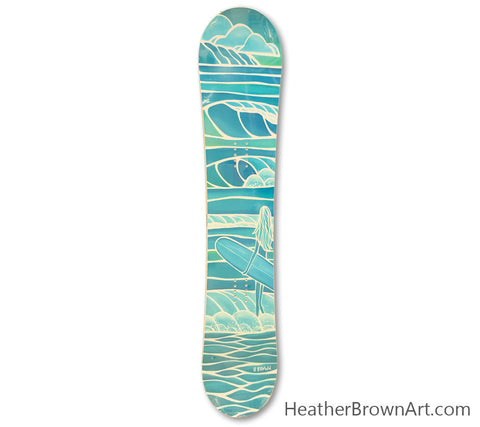 "The ""Spring Swell"" Limited Edition Snowboard was made in collaboration with Heather Brown Art x Elan Snowboards for the 2014-2015 season."