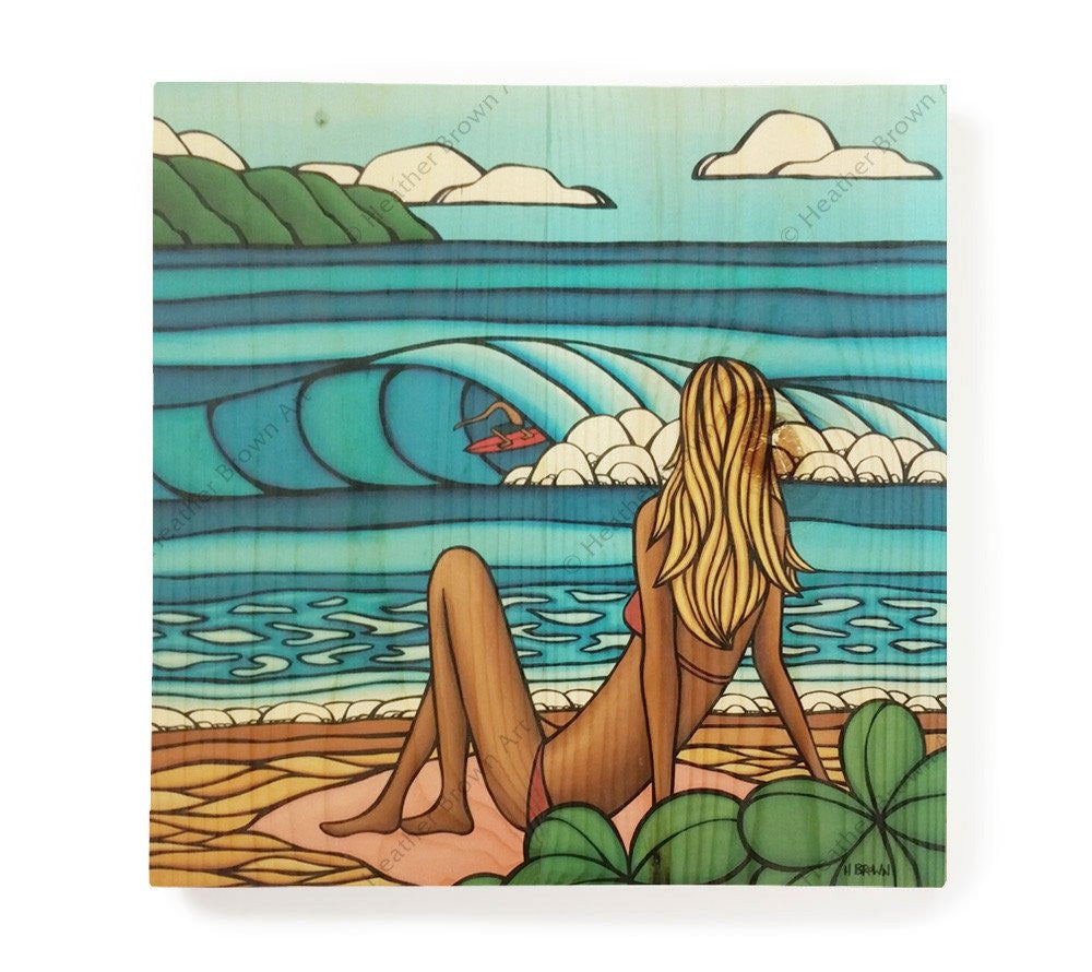Summer Vacation - Open Edition Wood Panel Print by Heather Brown
