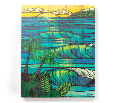 Sunset Swell - Open Edition Wood Panel Print by Heather Brown
