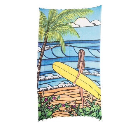 Sunshine Surf Hand-loomed Turkish Towel by Heather Brown and Hoa Kai
