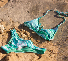 Rip Curl womans swimsuit with Heather Brown's Hawaii artwork
