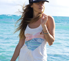 Heather Brown's Spring Swell artwork for Rip Curl for heart tank