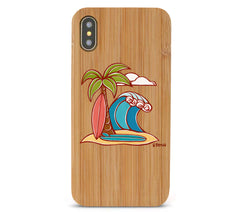 Surfboards Bamboo iPhone 8/X Cases