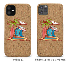 Surfboards Cork iPhone 8/X/11 Cases