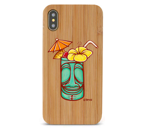 Tiki Mug Bamboo iPhone 8/X Cases