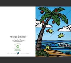 Detail - Tropical Christmas Greeting Card by Heather Brown