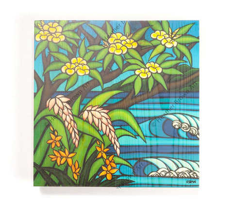Tropical Hawaii - Open Edition Wood Panel Print by Heather Brown