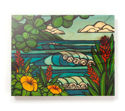 Tropical Paradise - Open Edition Wood Panel Print by Heather Brown