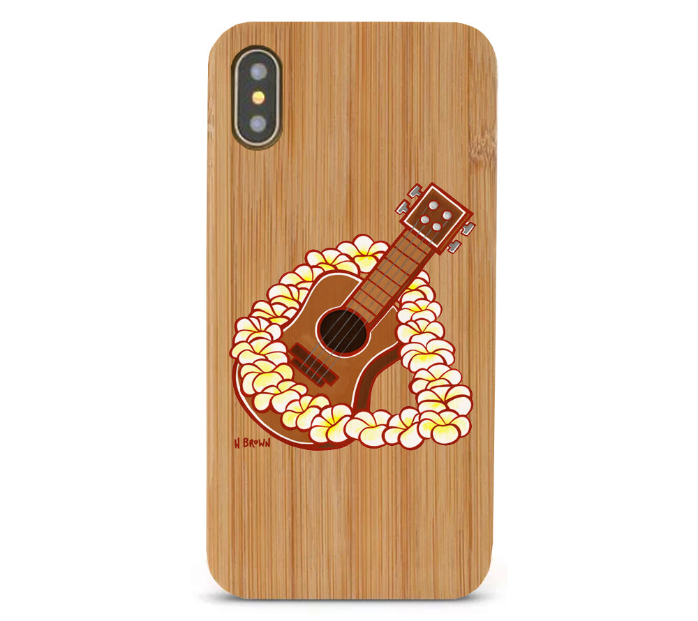 Ukulele Bamboo iPhone 8/X Cases