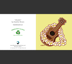 Detail - Ukulele Greeting Card by Heather Brown