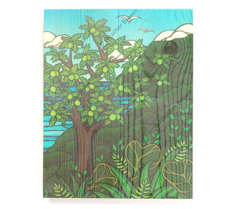 Ulu Tree - Open Edition Wood Panel Print by Heather Brown