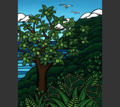 Ulu Tree - A Hawaiian staple, the bread fruit tree by Hawaii surf artist Heather Brown