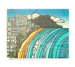 Waikiki - Open Edition Wood Panel Print by Heather Brown