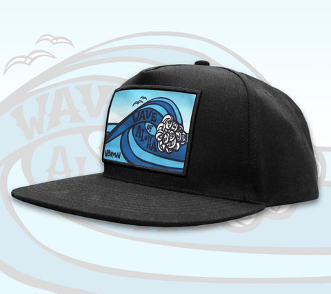 Wave of Aloha Patch Hat by Hawaii artist Heather Brown