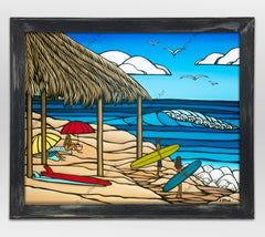 Heather Brown Painting of the Windansea Beach break in La Jolla California