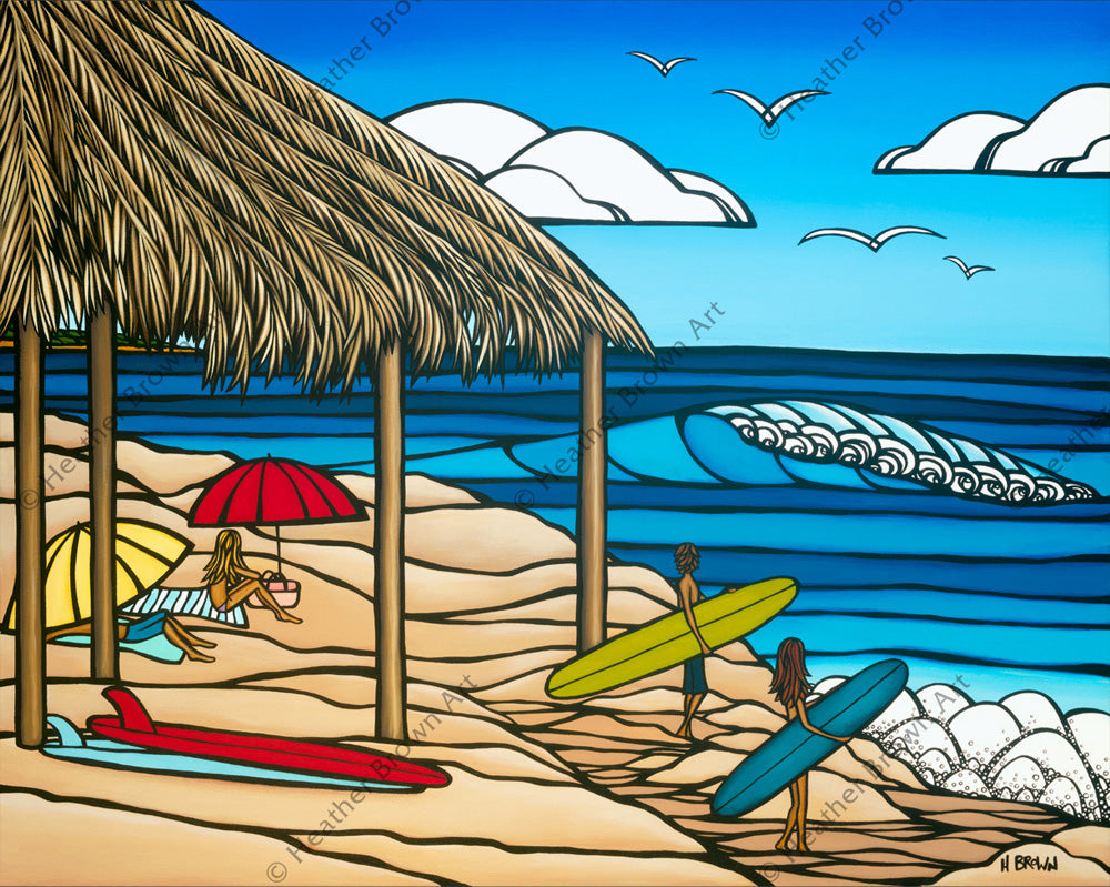 Windeansea - Popular California beach break painted by Heather Brown
