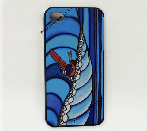 Pūpūkea Surf iPhone Case by Hawaii surf artist Heather Brown