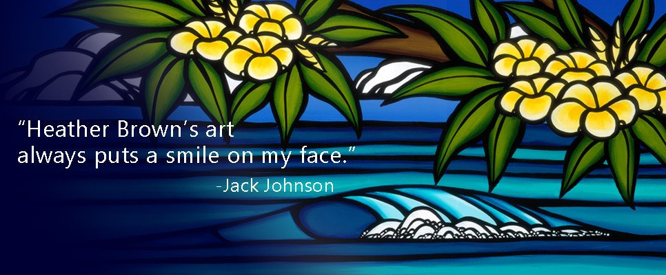 Jack Johnson and Kokua Foundation support artworks by Heather Brown
