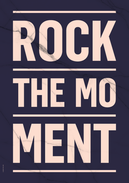 Poster ROCK THE MOMENT