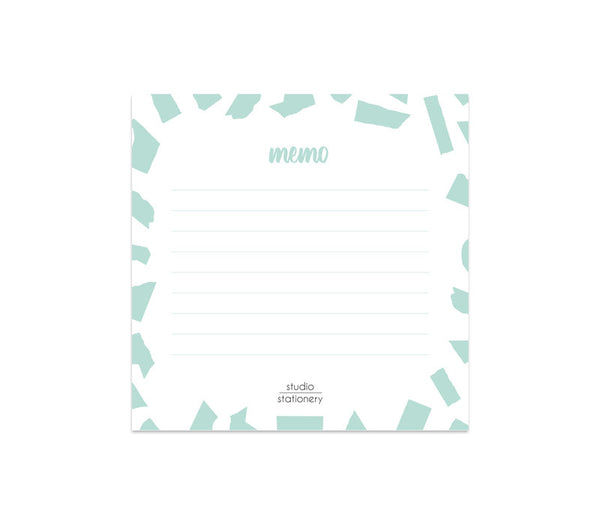 Mini Memo  Mint Confetti