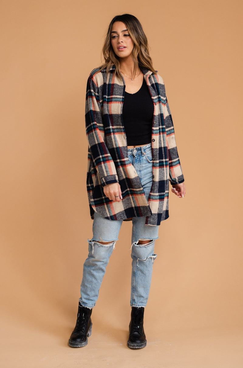 Fall in Maine Flannel in Blue