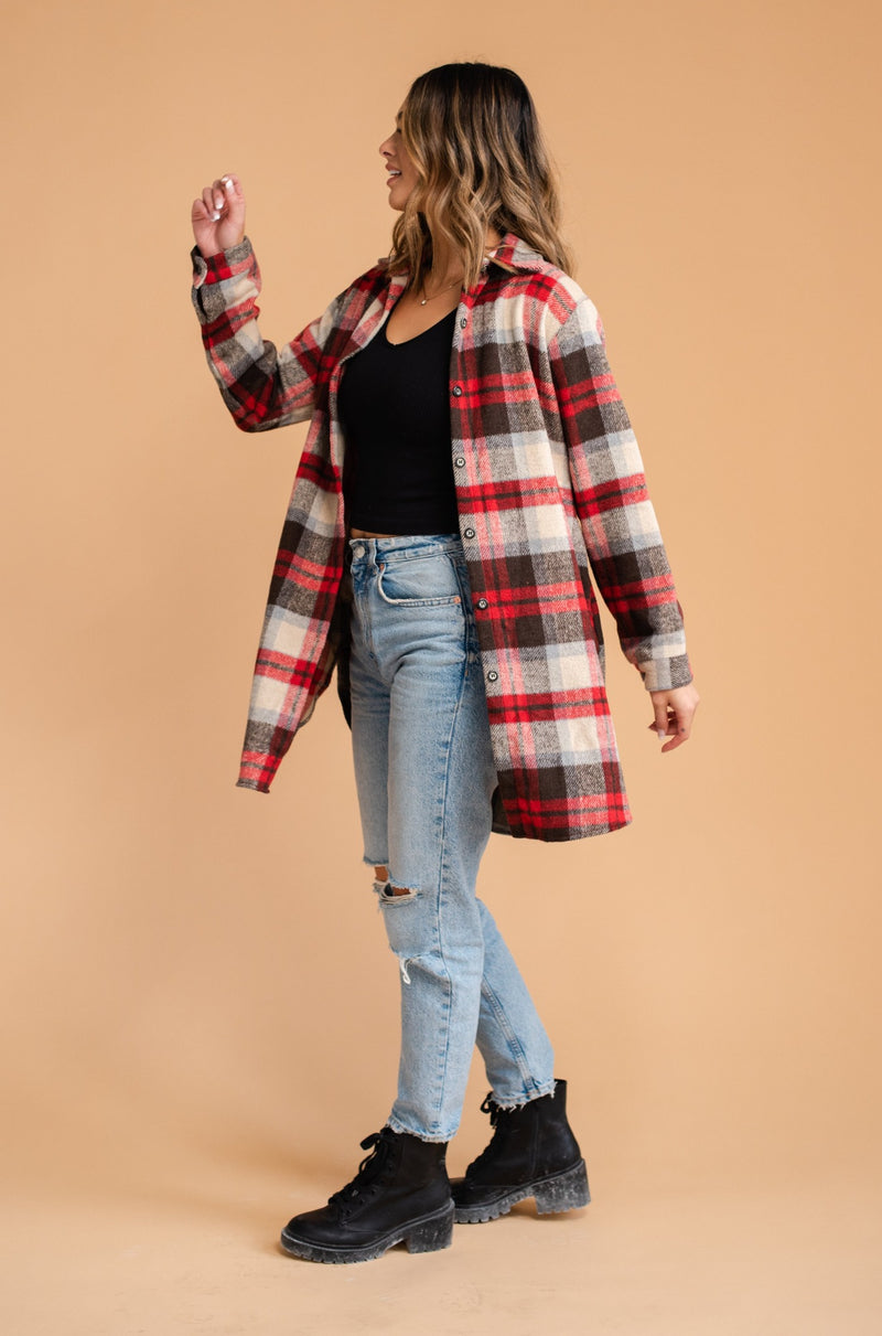 Fall in Maine Flannel Red