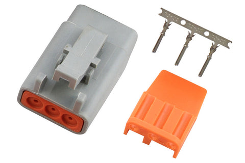 Plug and Pins Only - Male Deutsch DTM-3 Connector (7.5 Amp)