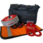 Carbon Offroad Expandable Winch Recovery Kit in Storage Bag