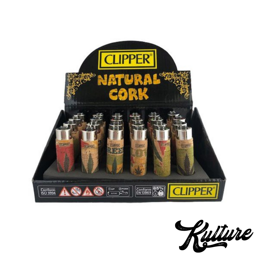 Clipper Natural Cork Lighter