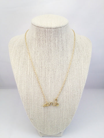 3 initials personalized necklace