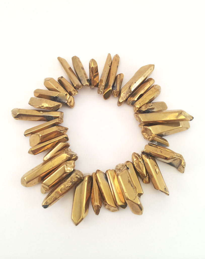 gold jagged spike bracelet
