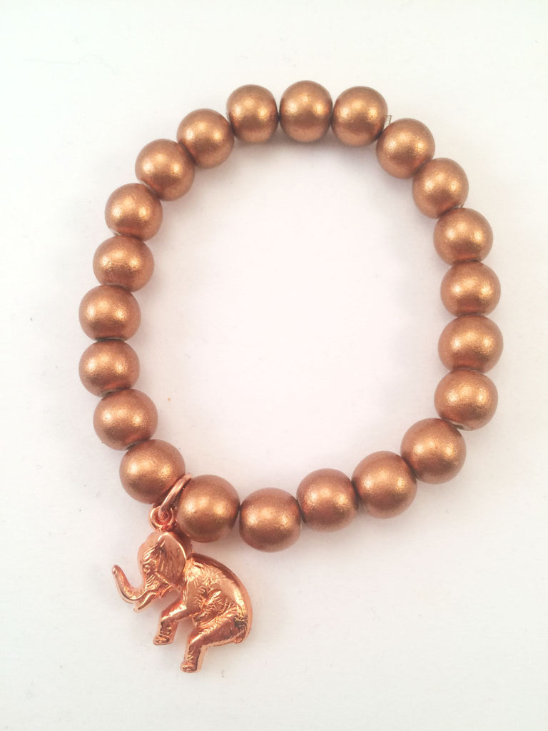 elephant charm stretch bracelet