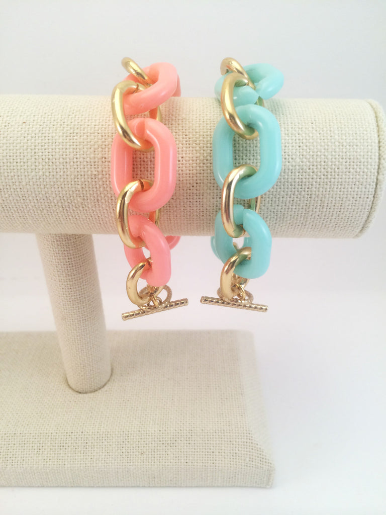 colored chain loop bracelet