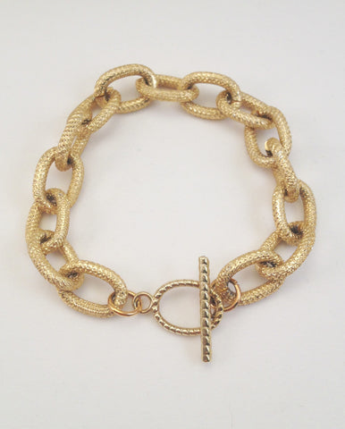 chain loop bracelet- textured