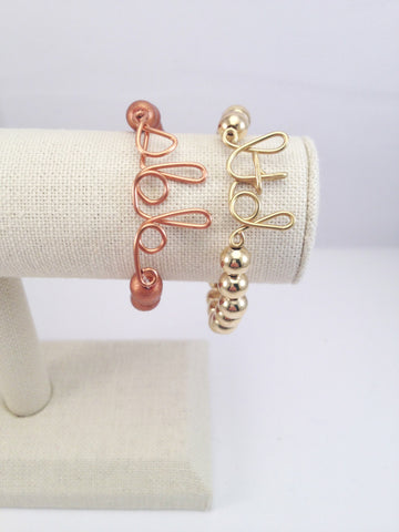 3 initial personalized stretch bracelet