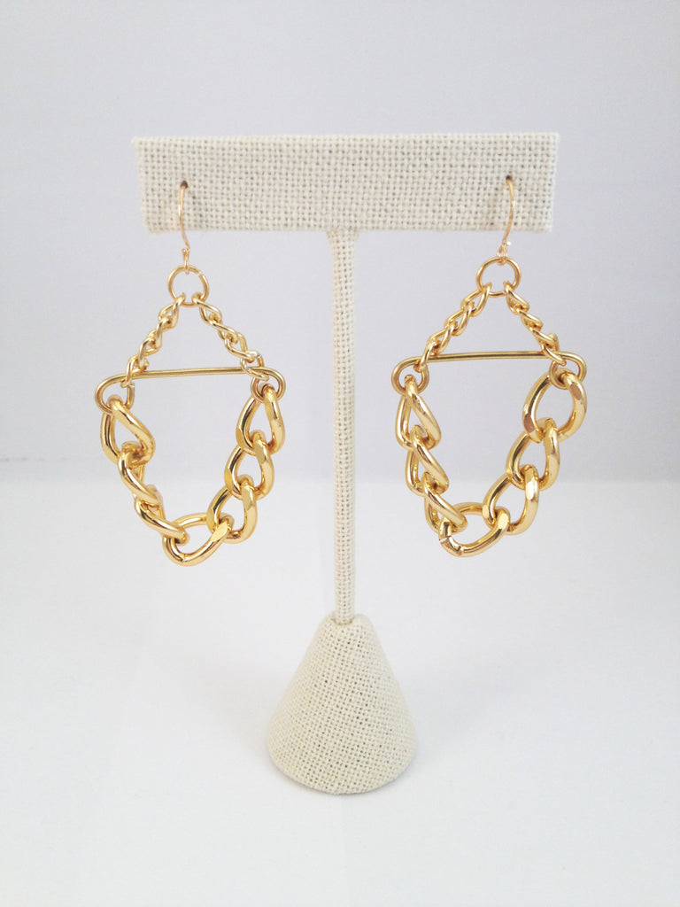 chain link earrings, small