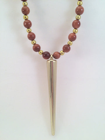 pendant necklace spike