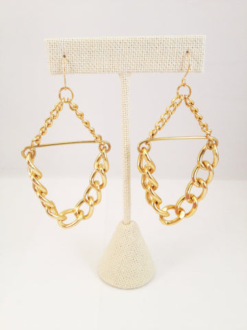 chain link earrings-large