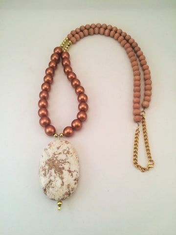 marbled pendant necklace