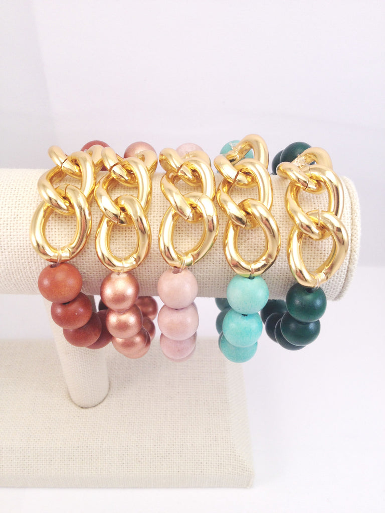 3 chain link stretch bracelet